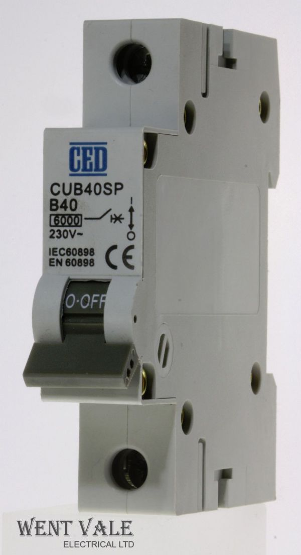 CED - CUB40SP - 40a Type B Single Pole MCB Unused